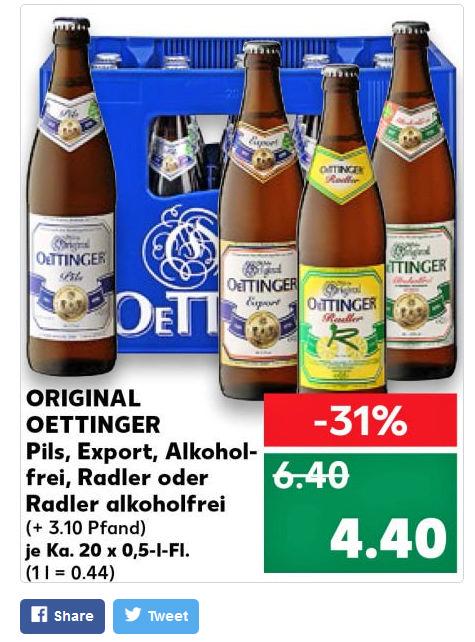 Preishammer: Oettinger bei Kaufland | inside Getränke ...