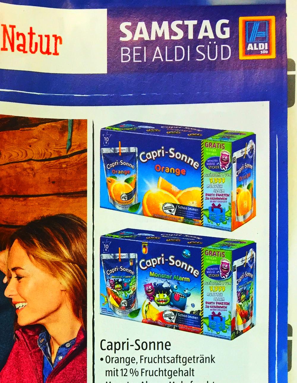 Capri-Sonne versinkt bei Aldi   inside Getränke - Informationen aus ...