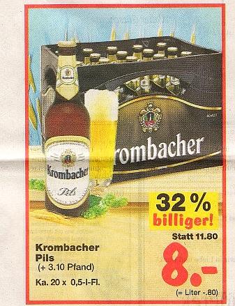 Preishammer: Krombacher strippt für Kaufland | inside Getränke ...