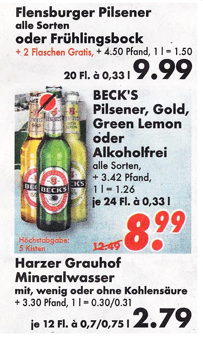 Preishammer: Beck\'s für 7.99 Euro | inside Getränke - Informationen ...