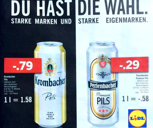 Preisvergleich: Lidl stellt u.a. Krombacher bloß   inside Getränke ...